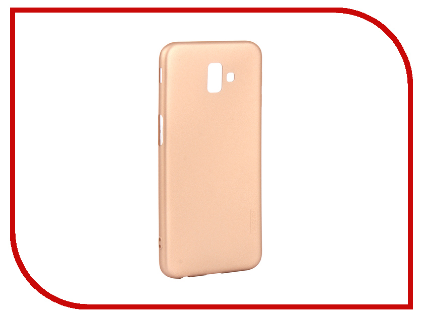 Аксессуар Чехол для Samsung Galaxy J6 Plus 2018 X-Level Guardian Gold 2828-211 аксессуар чехол x level guardian для apple iphone 7 8 plus burgundy 2828 015