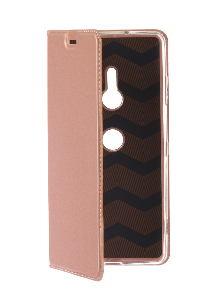 Аксессуар Чехол Brosco для Sony Xperia XZ3 PU Pink XZ3-BOOK-PINK