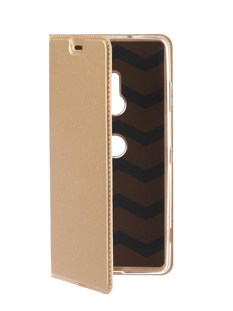 Аксессуар Чехол Brosco для Sony Xperia XZ3 PU Gold XZ3-BOOK-GOLD аксессуар чехол activ for sony xperia z4 hicase силиконовый gold 48133