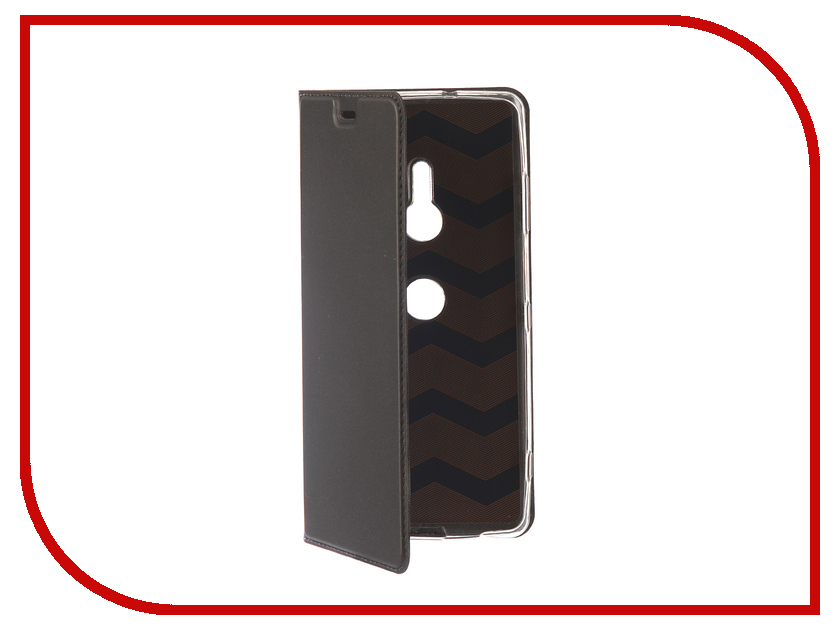 Аксессуар Чехол для Sony Xperia XZ3 BROSCO PU Black XZ3-BOOK-BLACK чехол icarer genuine leather series для l36h xperia z black черный