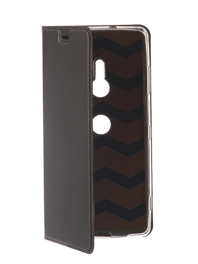 Аксессуар Чехол Brosco для Sony Xperia XZ3 PU Black XZ3-BOOK-BLACK