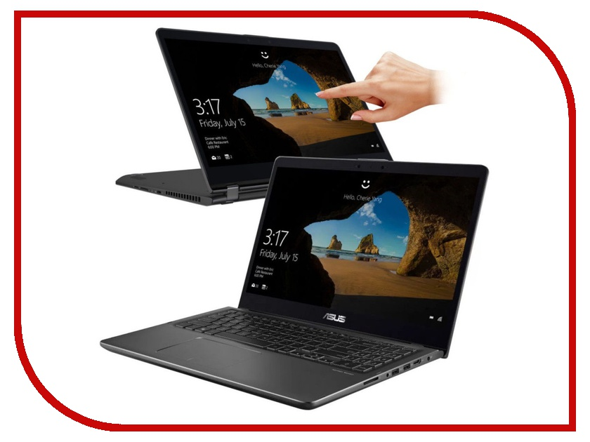 Ноутбук ASUS Flip Touch UX561UA-BO051T 90NB0G41-M00770 (Intel Core i5-8250U 1.6 GHz/8192Mb/512Gb SSD/No ODD/Intel HD Graphics/Wi-Fi/Bluetooth/Cam/15.6/1920x1080/Touchscreen/Windows 10 64-bit) i5 touch screen smart watch bluetooth health assistant waist band