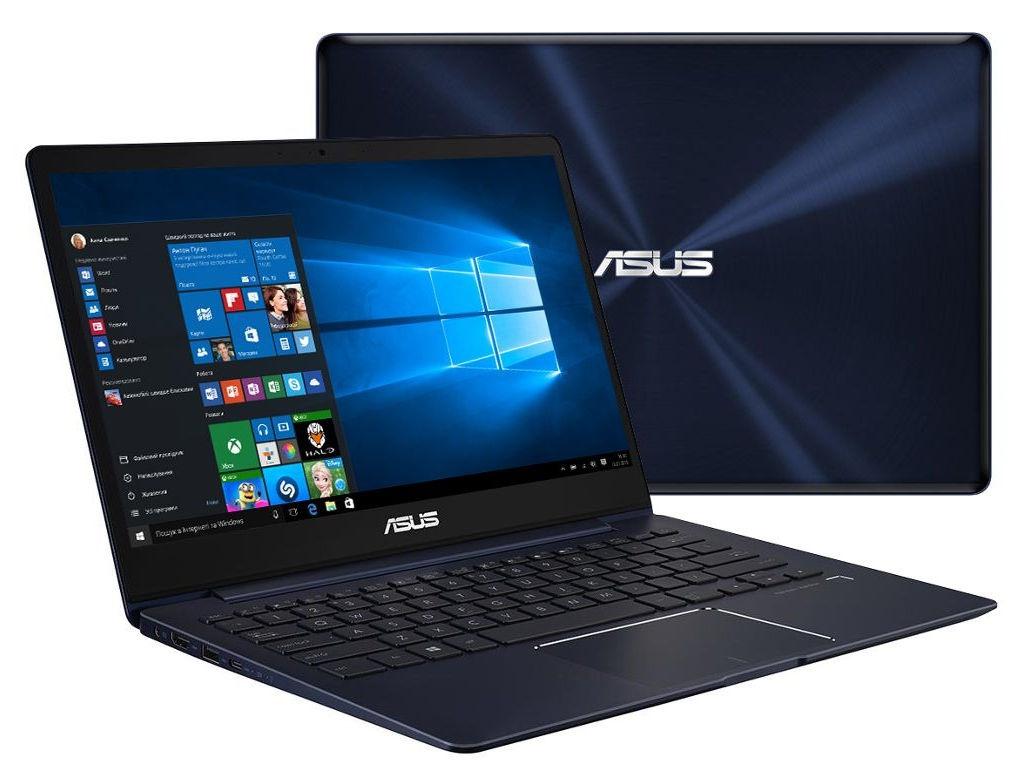 Ноутбук ASUS Zenbook UX331UN-EA065T 90NB0GY1-M04250 (Intel Core i5-8250U 1.6 GHz/8192Mb/512Gb SSD/No ODD/nVidia GeForce MX150 2048Mb/Wi-Fi/Bluetooth/Cam/13.3/3840x2160/Touchscreen/Windows 10 64-bit)