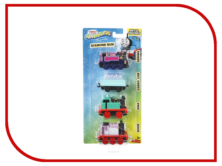 Игрушка Mattel Fisher-Price Thomas And Friends Паровозики с вагончиком DWM32 fisher price кубики блоки паровозики