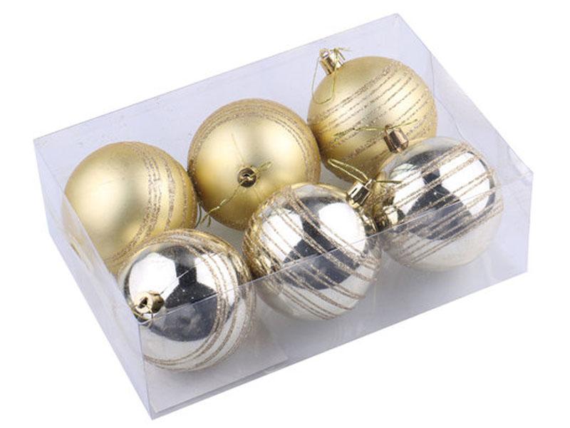 Украшение Золотая сказка Набор шаров 6шт 8см Light Gold 590882