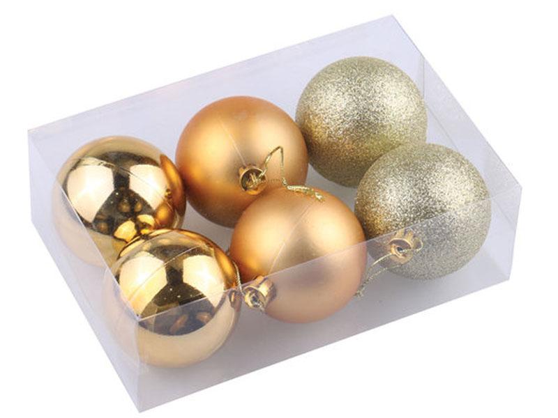 Украшение Золотая сказка Набор шаров 6шт 8см Dark Gold 590875
