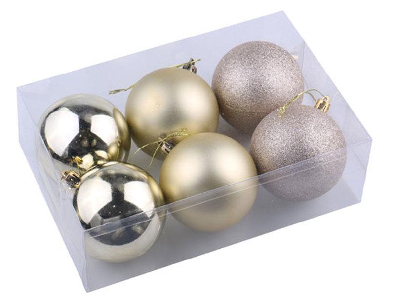 Набор шаров Золотая сказка 6шт 8см Light Gold 590874
