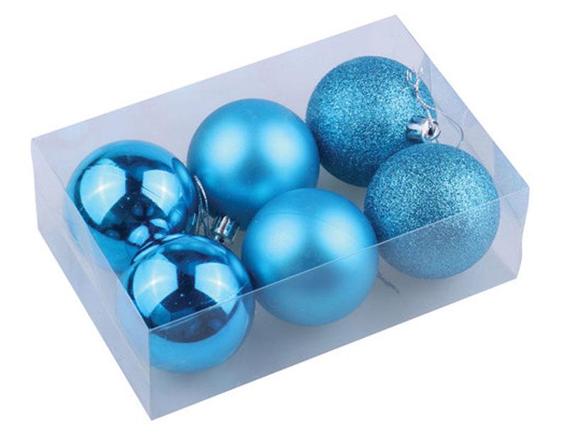 Набор шаров Золотая сказка 6шт 6см Turquoise 590871