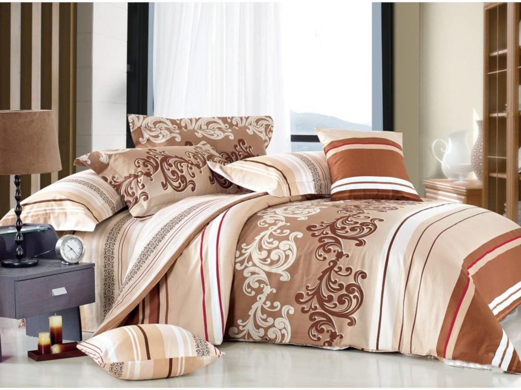 Постельное белье Cleo Satin Lux 20/302-SL Комплект 2-спальный Сатин