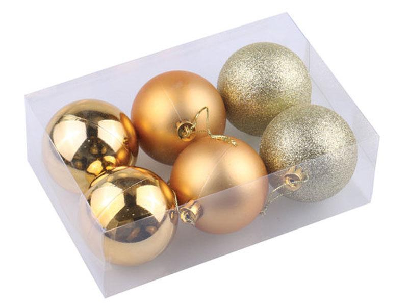 Украшение Золотая сказка Набор шаров 6шт 6см Dark Gold 590867