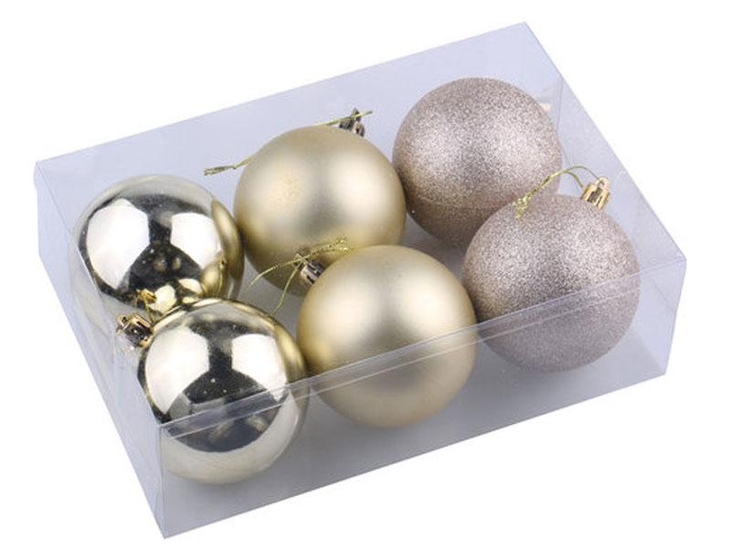 Набор шаров Золотая сказка 6шт 6см Light Gold 590866