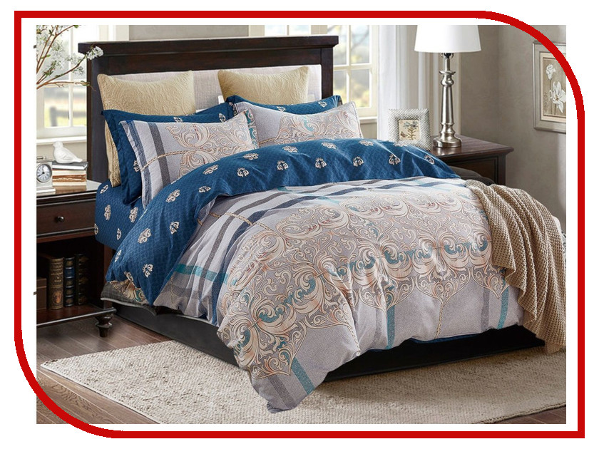Фото - Постельное белье Cleo Satin Lux 41/299-SL Комплект Дуэт Сатин постельное белье этель кружева комплект 2 спальный поплин 2670978