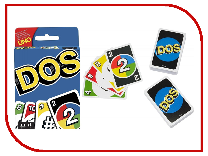 Настольная игра Mattel Uno DOS FRM36 uno настольные игры карточная игра uno друзья семья картон мальчики подарок
