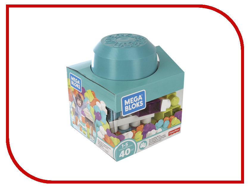 Конструктор Mattel Fisher-Price Mega Bloks Блоки для развития воображения 40дет. FRX19 fisher price кубики блоки паровозики