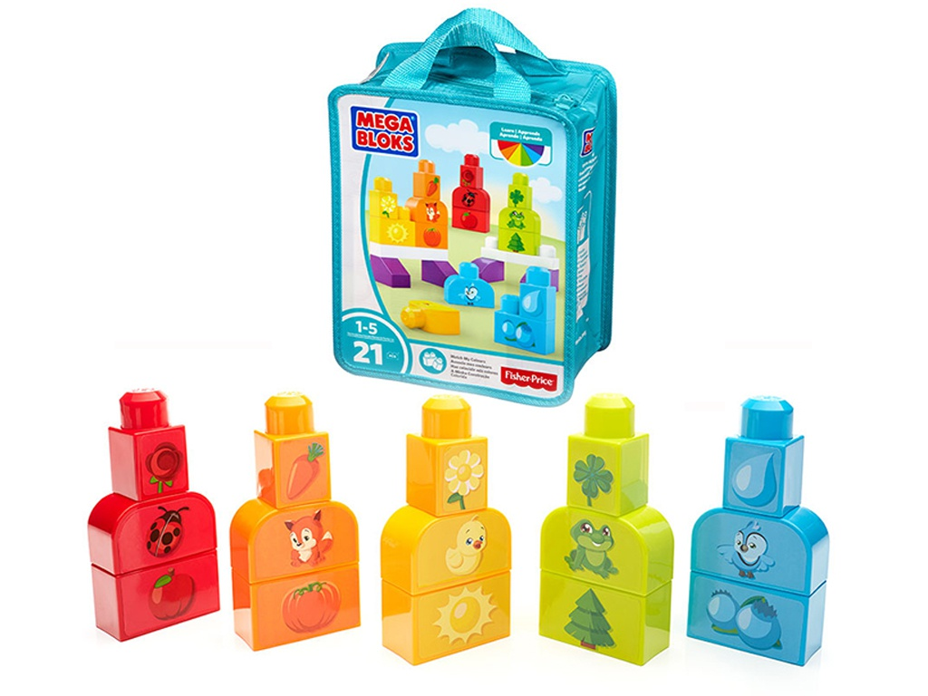 Конструктор Mattel Fisher-Price Mega Bloks Изучаем цвета DXH33