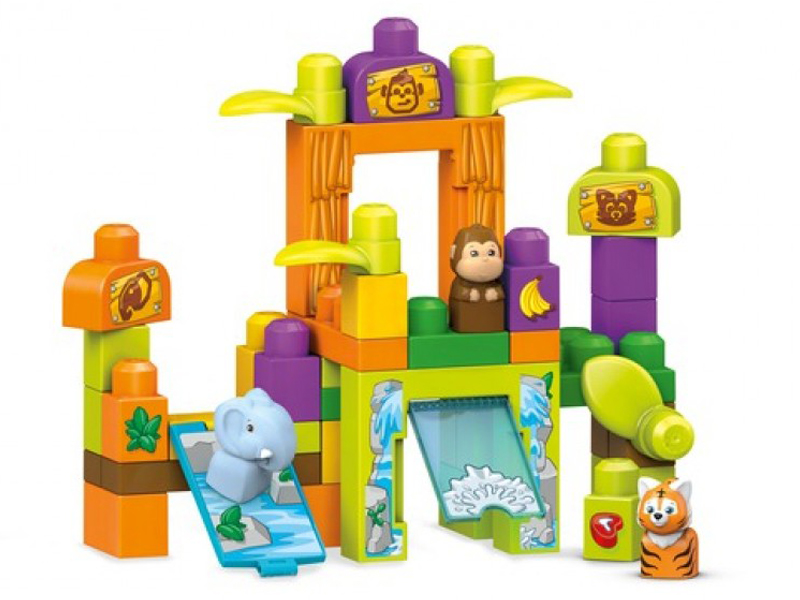 Конструктор Mattel Fisher-Price Mega Bloks Зоопарк Сафари FFG42