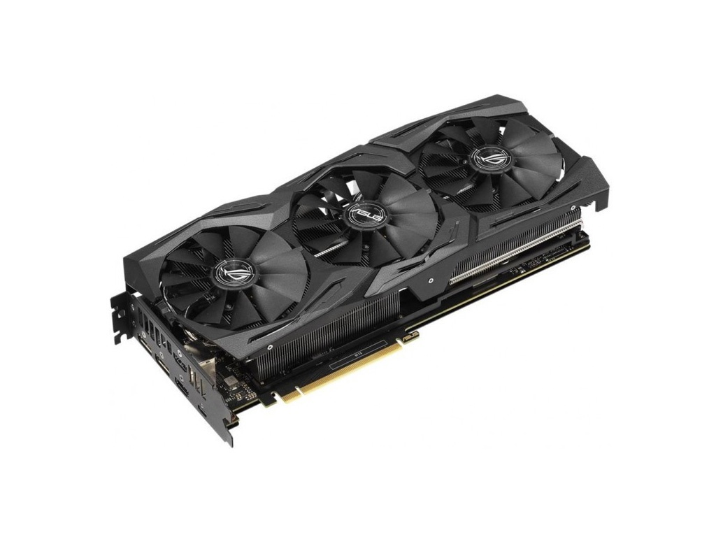 купить Видеокарта ASUS GeForce RTX 2070 1410Mhz PCI-E 3.0 8192Mb 14000Mhz 256 bit USB-C 2xDP 2xHDMI HDCP ROG-STRIX-RTX2070-A8G-GAMING по цене 40101 рублей