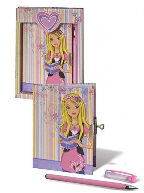 Блокнот Brauberg 7БЦ А5 56 листов Стильная девчонка 123563