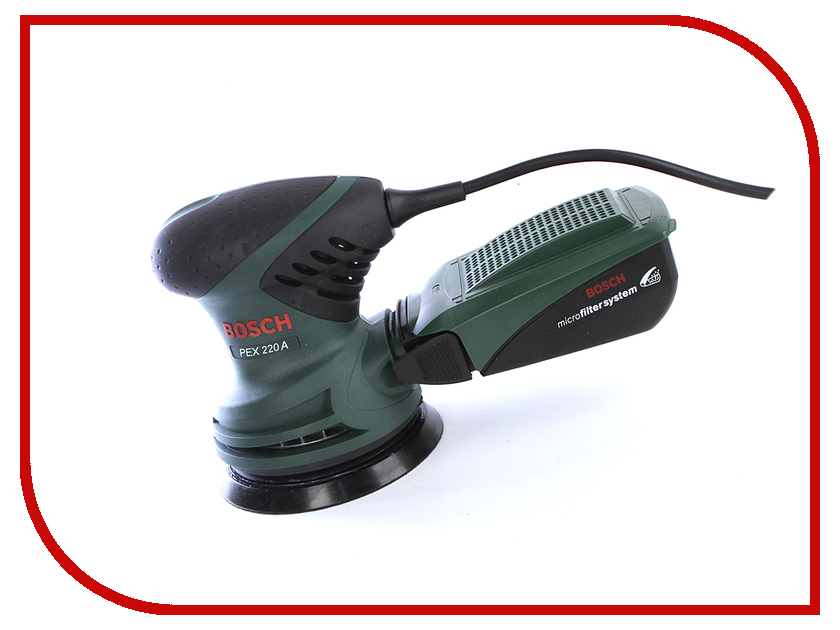 Шлифовальная машина Bosch PEX 220 A шлифовальная машина bosch pwr 180 ce 06033c4001