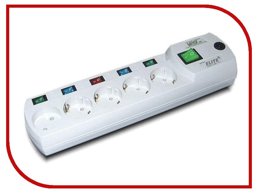 Сетевой фильтр Most ERG 5 Sockets 5m White 599876 сетевой фильтр most hp 6 sockets 5m white