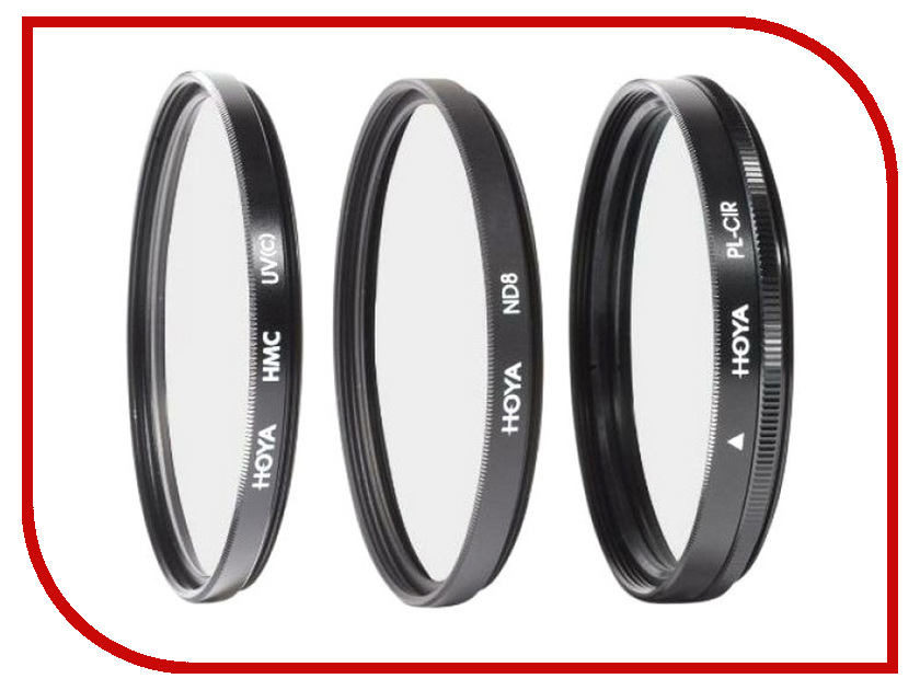 Светофильтр HOYA Digital Filter Kit HMC MULTI UV, Circular-PL, NDX8 - 72mm - набор светофильтров 79502 zomei pro ultra slim mcuv 16 layer multi coated optical glass uv filter for canon nikon hoya sony lens dslr camera accessories