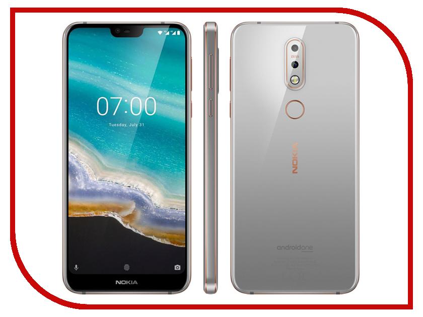Сотовый телефон Nokia 7.1 32GB Gray сотовый телефон nokia 7 plus black copper