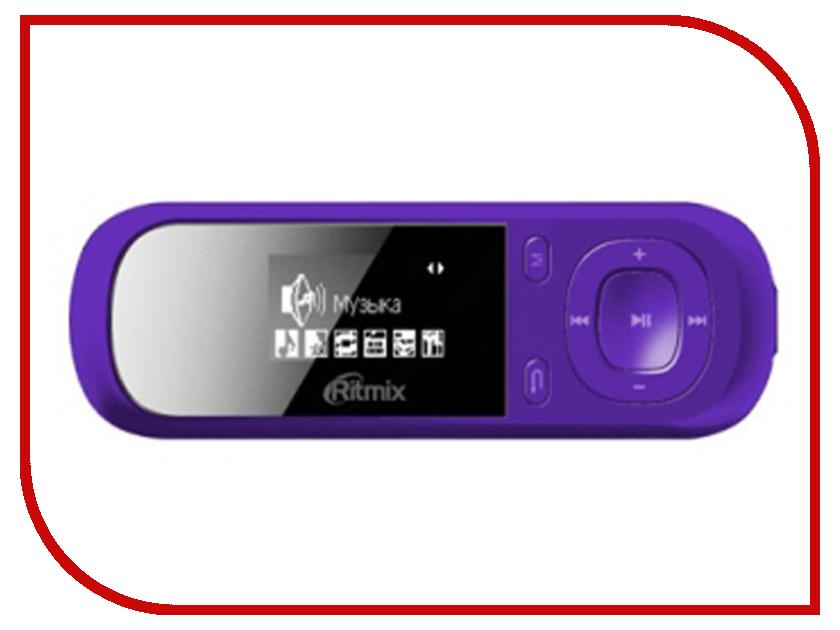 Плеер Ritmix RF-3360 4Gb Violet ritmix rf 3360 4gb violet mp3 плеер
