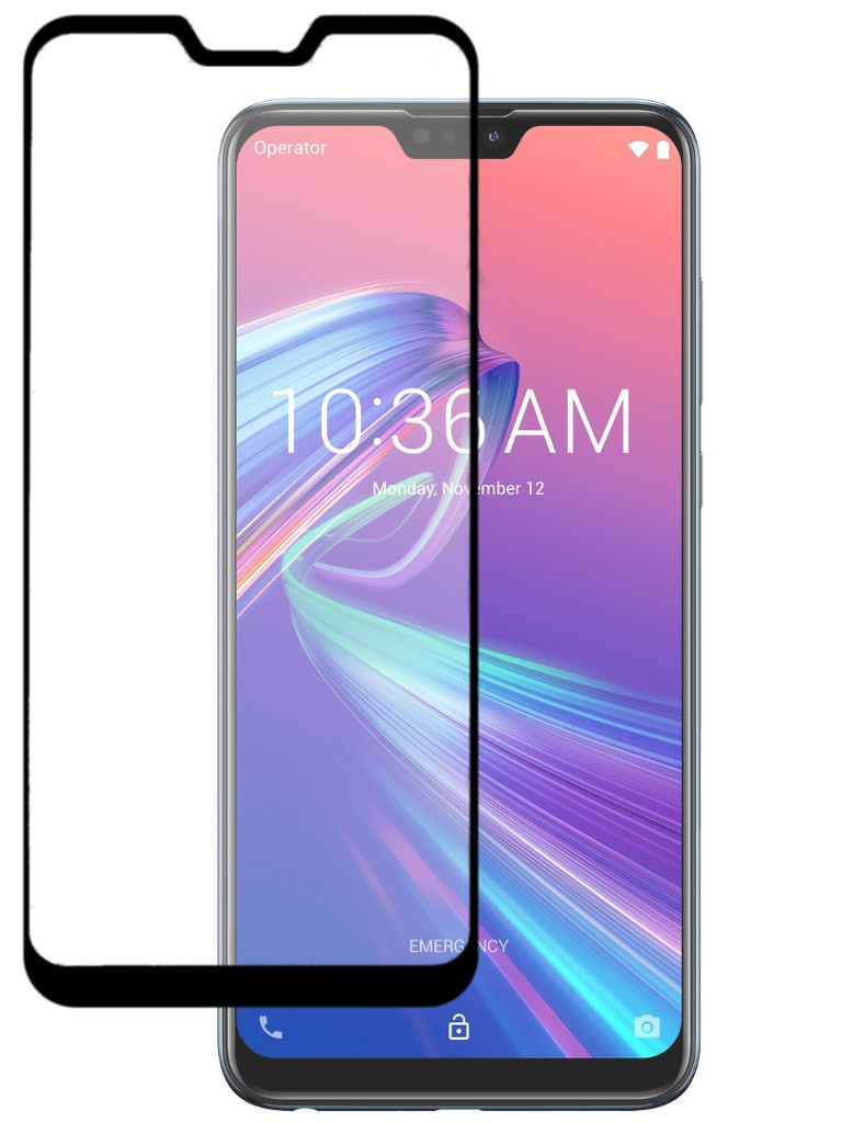 Аксессуар Защитный экран Red Line для ASUS ZenFone Max Pro M2 ZB631KL Full Screen Tempered Glass Full Glue Black УТ000016773 for asus zenfone 6 a600cg new full black lcd display panel screen monitor digitizer touch screen glass assembly replacement