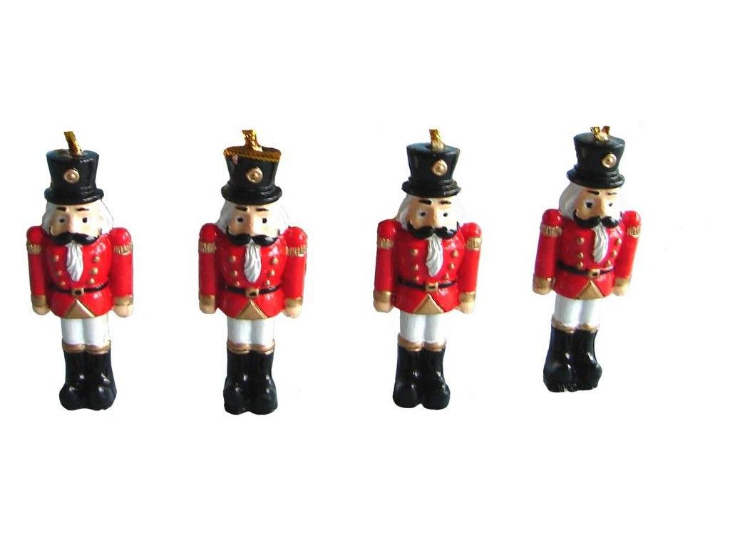 цена Украшение Breitner Новогодние солдатики 4шт 5.5cm 14-0536 онлайн в 2017 году