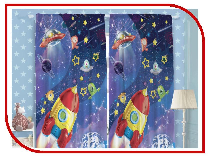 Купить Комплект штор Этель Космос 150x270cm 2шт 1275887