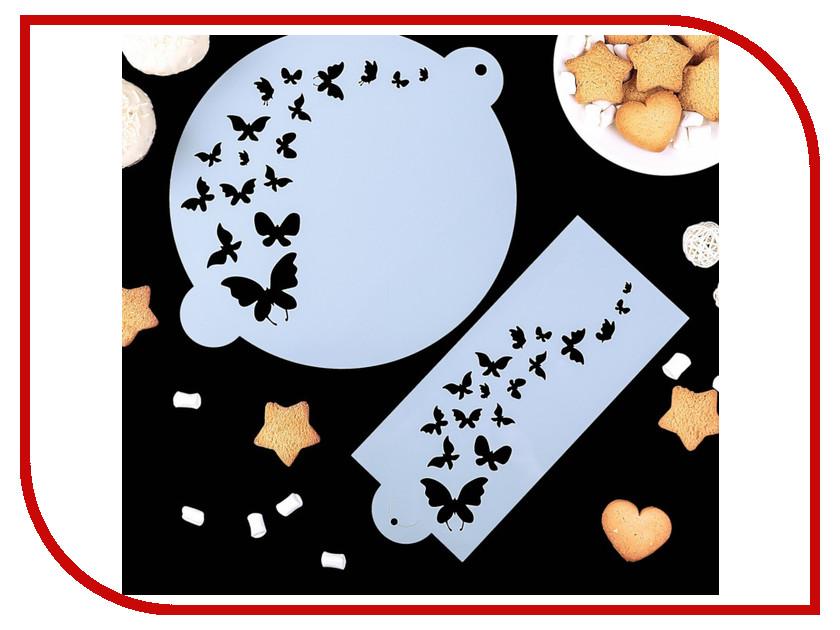 Набор трафаретов СИМА-ЛЕНД Бабочки 2 шт d 23cm 1680116 кухонный набор сима ленд шеф повар хрюша 3505364