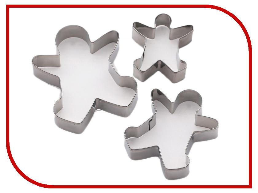 Набор форм для вырезания печенья Доляна Пряничный человек 3 шт 3863478 набор форм для печенья 7 шт dexam