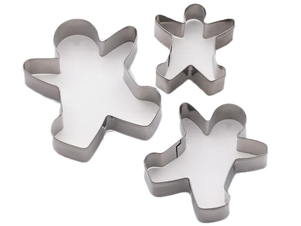 Набор форм для вырезания печенья Доляна Пряничный человек 3 шт 3863478