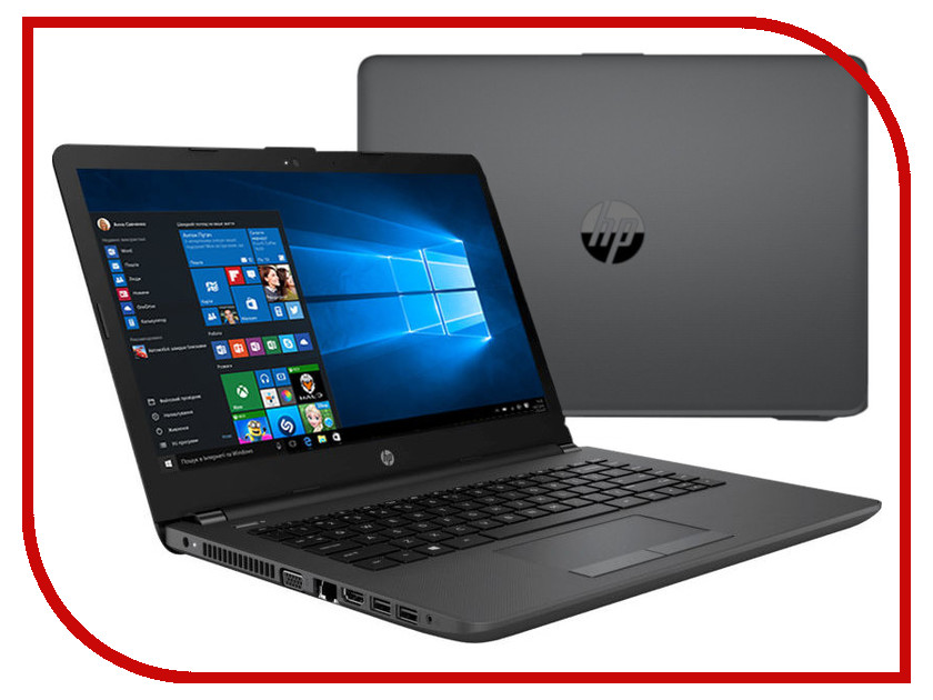 Ноутбук HP 240 G6 4BD01EA (Intel Core i3-7020U 2.3 GHz/4096Mb/500Gb/DVD-RW/Intel HD Graphics/Wi-Fi/Bluetooth/Cam/14.0/1366x768/Windows 10 64-bit)