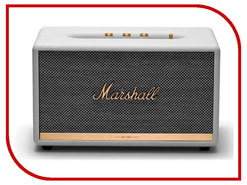 Колонка Marshall Stanmore II White колонка marshall stanmore bluetooth brown