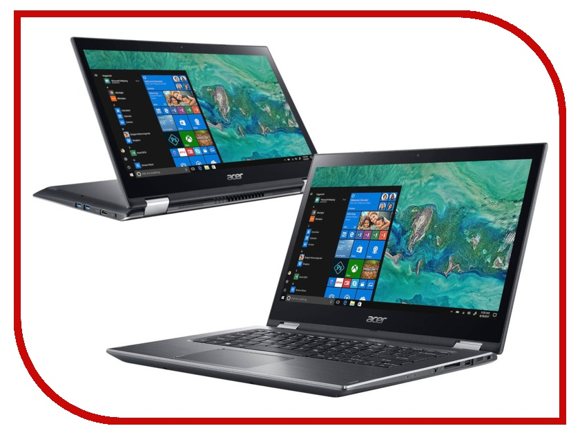 Ноутбук Acer Spin 3 SP314-51-51BY NX.GZRER.001 (Intel Core i5-8250U 1.6 GHz/8192Mb/256Gb SSD/Intel HD Graphics/Wi-Fi/Bluetooth/Cam/14.0/1920x1080/Touchscreen/Windows 10 64-bit)