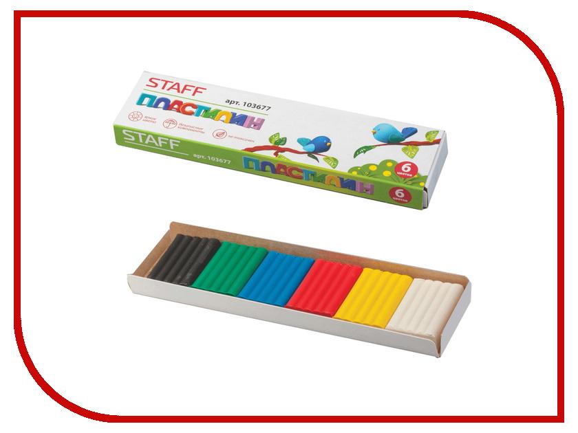 Набор для лепки Staff Пластилин 6 цветов 103677 набор для лепки смехторг умный пластилин nauty putty page 2