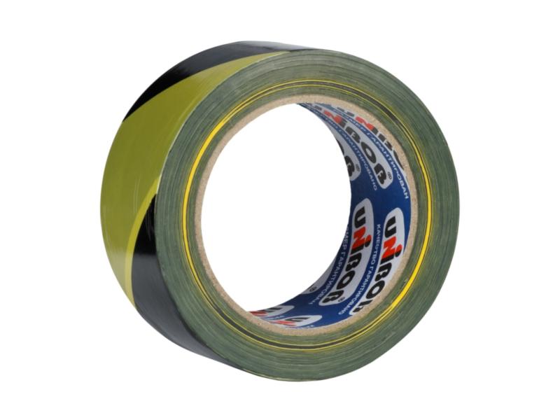 Клейкая лента Unibob 50mm x 150m Yellow-Black 55372