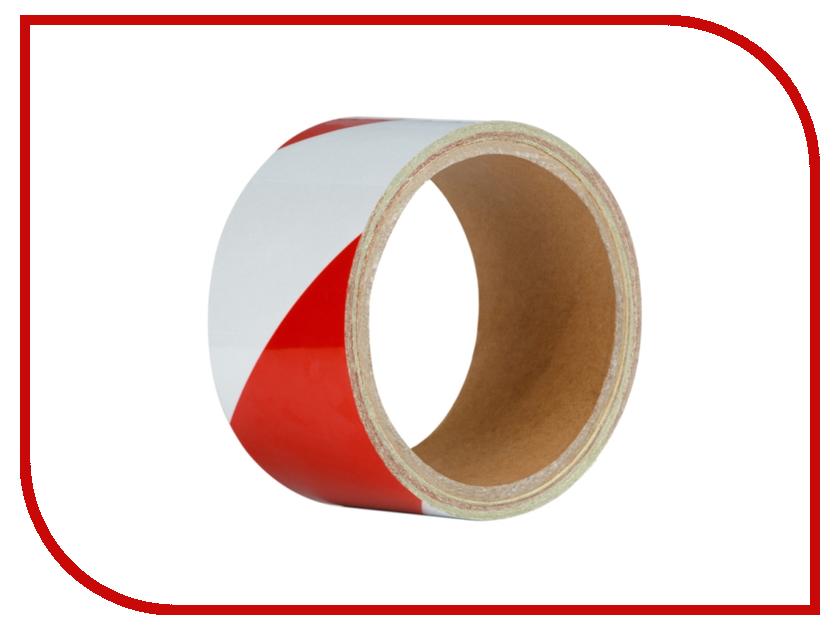 Лента Клейкая лента Unibob 48mm x 5m Red-White 48984 sf gl3r led hand light flash stick red white 4 x ag3
