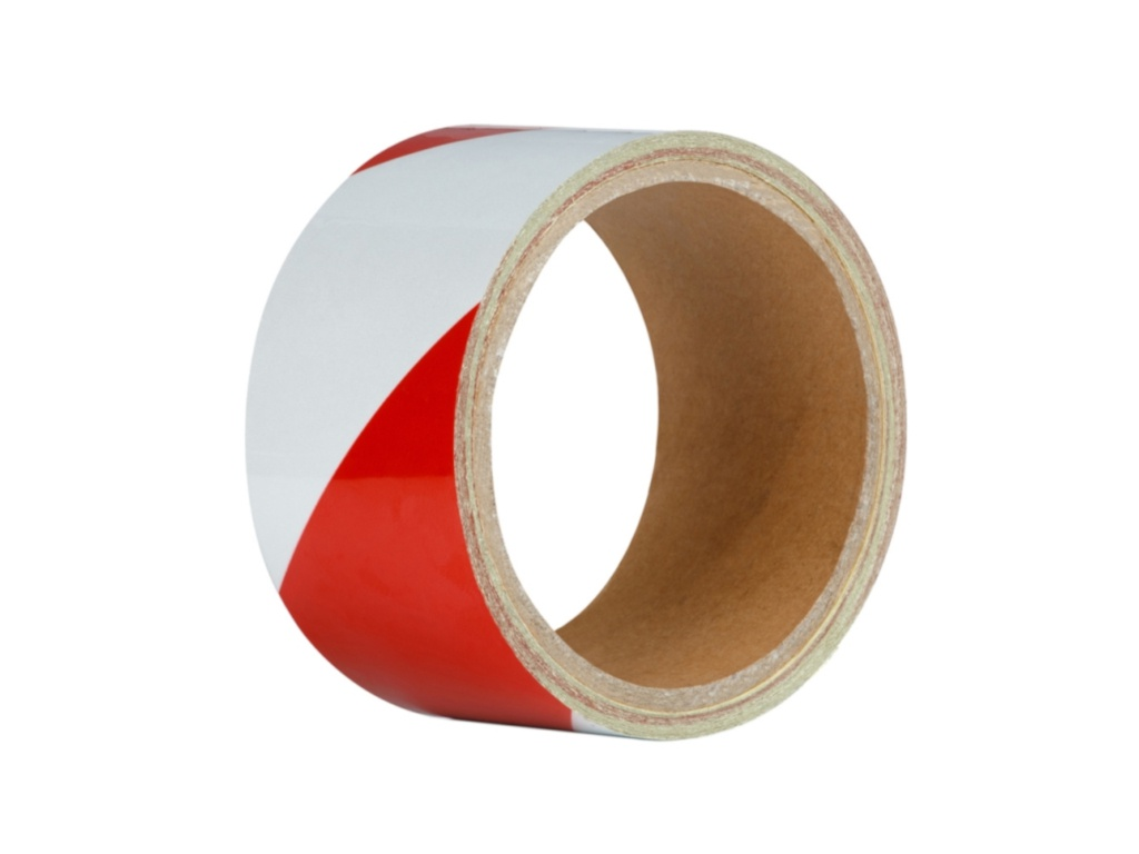 Клейкая лента Unibob 48mm x 5m Red-White 48984