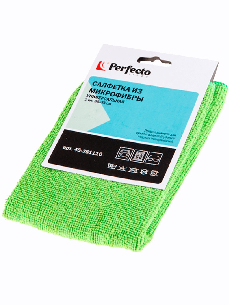 Универсальная салфетка из микрофибры Perfecto 35x35cm 1шт 45351110 цена