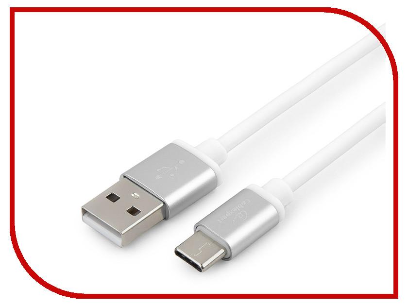 Аксессуар Gembird Cablexpert Silver Series USB 2.0 - USB Type-C 1m White CC-S-USBC01W-1M аксессуар gembird cablexpert usb 3 1 type c usb 3 1 type c 1m ccp usb3 1 cmcm 1m