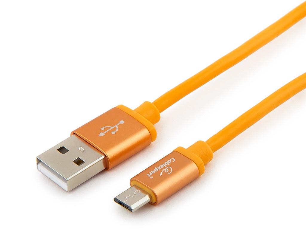 Аксессуар Gembird Cablexpert Silver Series USB 2.0 - MicroUSB 1m Orange CC-S-mUSB01O-1M аксессуар gembird cablexpert silver series usb lightning 1m yellow cc s apusb01y 1m