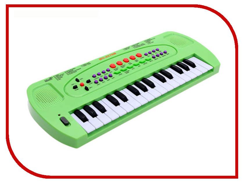 Детский музыкальный инструмент СИМА-ЛЕНД Синтезатор с микрофоном Музыкант Green 1689051 кухонный набор сима ленд шеф повар хрюша 3505364