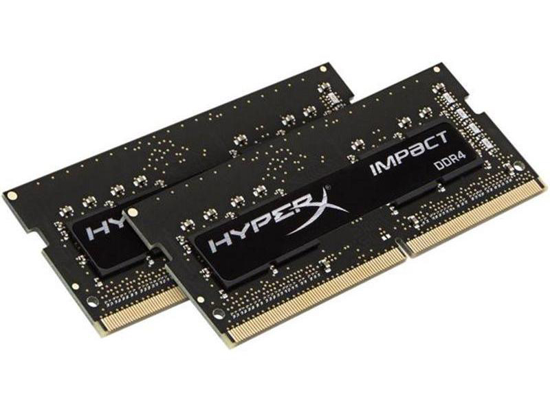 Модуль памяти Kingston HyperX Impact DDR4 SO-DIMM 2666MHz PC4-21300 CL15 - 16Gb KIT (2x8Gb) HX426S15IB2K2/16