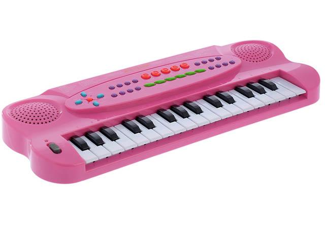 Детский музыкальный инструмент СИМА-ЛЕНД Синтезатор с микрофоном Музыкант Pink 1716774 цена