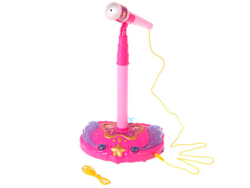 Детский музыкальный инструмент Забияка Микрофон на стойке Юная звезда 2478141