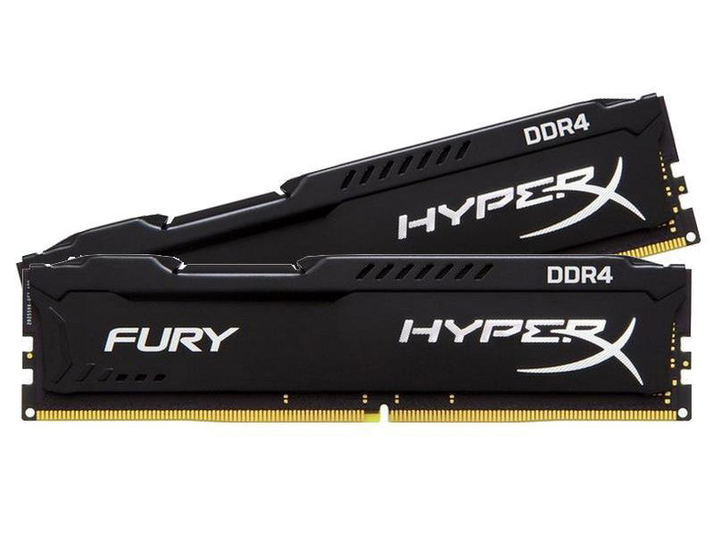 Модуль памяти Kingston HyperX Fury Black DDR4 DIMM 2933MHz PC4-23466 CL17 - 16Gb KIT (2x8GB) HX429C17FB2K2/16