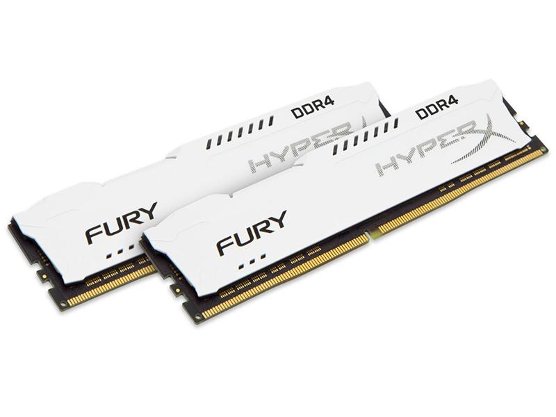 Модуль памяти Kingston HyperX Fury White DDR4 DIMM 2933MHz PC4-23466 CL17 - 16Gb KIT (2x8Gb) HX429C17FW2K2/16