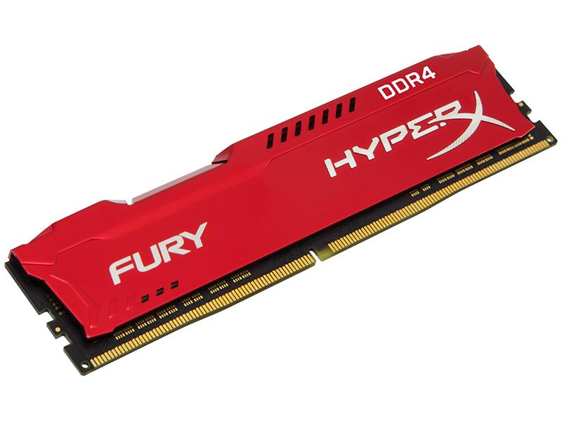 Модуль памяти Kingston HyperX Fury Red DDR4 DIMM 3466MHz PC4-27700 CL19 - 8Gb HX434C19FR2/8 оперативная память kingston hyperx fury hx434c19fr2 8 dimm 8gb ddr4 3466mhz dimm 288 pin pc 27700 cl19